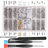 bayite Eyeglass Sunglass Repair Kit with Screws Tweezers Screwdriver Tiny Micro Screws Nuts Assortment Stainless Steel Screws for Spectacles Watch 1000Pcs