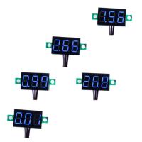 "bayite Pack of 5 Three-Wire Calibratable DC 0~30V Blue Digital Mini Voltmeter Gauge Tester Mount Car Motorcycle Battery Monitor Volt Voltage Meter 0.36"" Blue LED Display Panel"