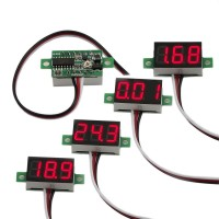 """bayite Pack of 5 Three-Wire Calibratable DC 0~30V Red Digital Mini Voltmeter Gauge Tester Mount Car Motorcycle Battery Monitor Volt Voltage Meter 0.36"""" Red LED Display Panel"""